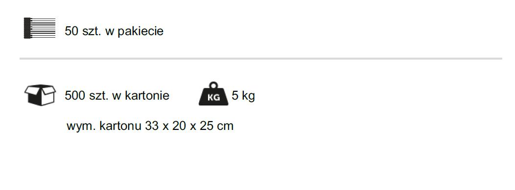 Znaki do znakowania tusz dziczyzny KYR - pakowanie